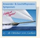 Anwender- und Geschäftsprozess-Symposium, 27.-28. Oktober 2011, Gießen